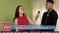 BANGBROS - Asian Reporter Mi Ha Takes On Mookie's Big Black Cock