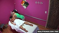 Asian teen (Vicki Chase) gives out happy ending in the back room - Reality Kings