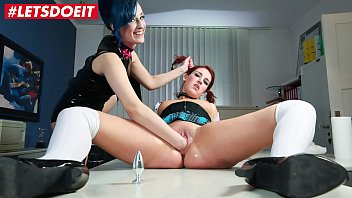 Sexy School Girl is dominated with rough punishment by lesbian
