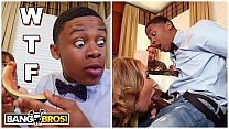BANGBROS - MILF Richelle Ryan Gives Her New Black Step Son Watermelon And Then Sucks His Dick
