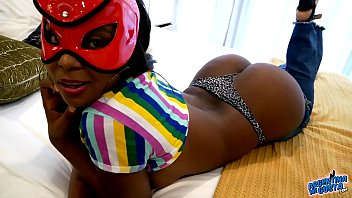 Huge Round Heavy ASS EBONY Babe In Tight Jeans and G String