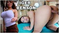 CULIONEROS - Asian Pornstar With Big Tits and Big Ass (Tigerr Benson) Does Anal