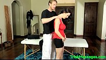 Bigtitted MILF cumsprayed during massage