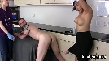 Cuties fuck fellas ass hole with big strap dildos and squirt jism