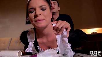 Petite maid Anita B. humiliated & ass fucked by her boss until she orgasms