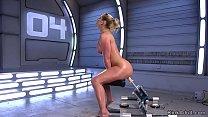 Huge tits oiled Milf fucking machine 5 min