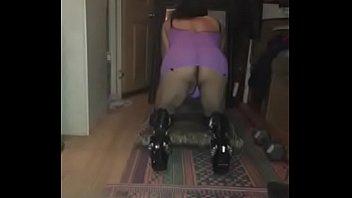 Sissy in Houston purple lingerie