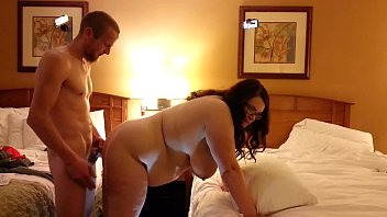 Bbw wife fucked from behind...huge swinging tits