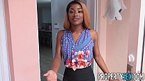 PropertySex - Busty agent with amazing natural tits fucking client