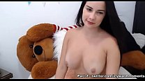 An Amateur girl fingering and playing with Big vibrator while stripping down slowly - part 1