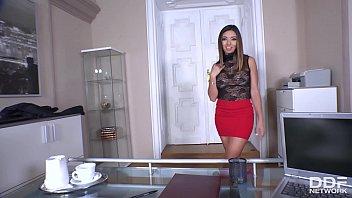 Hot Milf secretary Frida Sante's got a craving for big dick of her boss