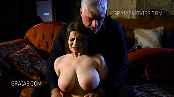 Large tits fondled and squeezed