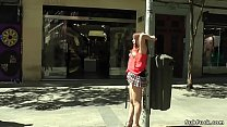Japanese sub nipples tormented in public