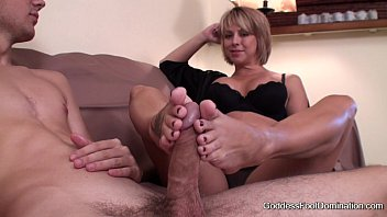 Footjob - Sons Unexpected Visit