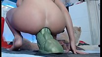 Girls4cock.com *** She Takes the biggest dildo in the world in her tight asshole