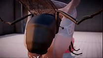 3D [MMD] Lilia Insect Fuck Toilet Part 2 / 2