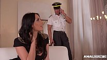 Anal inspectors Donna Bell & Anissa Kate share big veiny cock in threesome