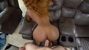 Hot black babe with a great ass fucked hard