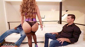 Rammed - PAWG MILF Richelle Ryan twerks on two big dicks