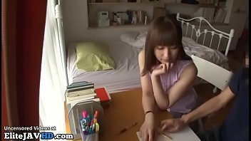 Japanese home teacher fucking shy student
