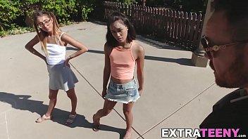 Latina teen threesome big cock banging with Aria Skye 8 min