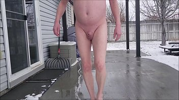 Micropenis Sissy Jeffrey Hewitt Shoveling Snow Naked