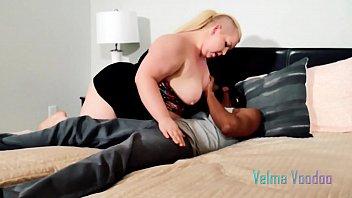 BBW Velma Voodoo squirts on black cock
