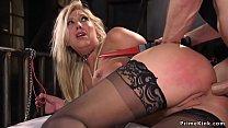 Busty blonde has anal bdsm sex