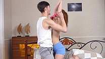 18 Virgin Sex - Brunette sweetens the guitar playing night with sex