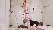 Real, b. painal with extreme bondage, ass eating, aand stomach wrecking punishment for petite blond submissive (Violet October)