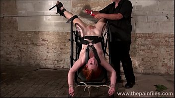 Upside down pussy punishment and swedish amateur bdsm of redhead slavegirl
