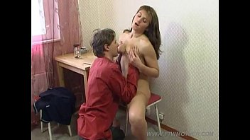 Mom seduces son with her feet