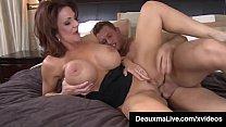 Busty Cougar Mom Deauxma Sucks & Fucks Young Friend's Cock! 10 min