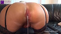 Submissive slut hard Ass fucked by a b. men horde, including extreme filling with sperm and piss!