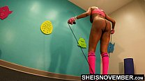 4K Msnovember Horny Old Coach Made Cute Little Ebony Spinner Jump Rope Naked In His Gym , Large Natural Saggy Busty Breasts , Dark Puffy Nipples , And Big Areolas Bouncing While Working Out Her Slim Ass And Petite Thighs HD Sheisnovember
