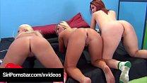 4Some Orgy! Siri Pornstar Britney Amber & Heidi Hollywood!