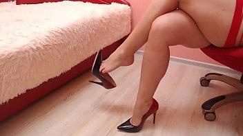 Dangling with beautiful high heel shoes.