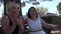 Aurélie et Clarisse une blonde et une brune pour une super partouze