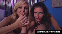 Cock Sucking Milfs Julia Ann & Jessica Jaymes Share A Dick!