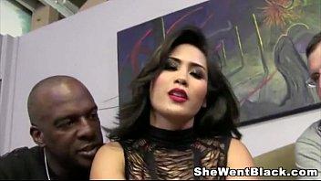 Jessica Bangkok humiliates her Cuckold Husband with a Big Black Cock
