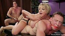Huge tits wife anal fucks husband