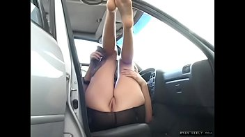Naughty Teen Changing in a Public Parking Lot