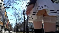 Look under my skirt. Jeny Smith spinning in a miniskirt in public