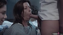 Huge boobs troubled MILF in a 3some with hospital staff 6 min