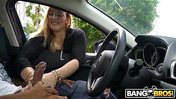 BANGBROS - Cute Random Blonde Girl Gives Me Handjob In Public!