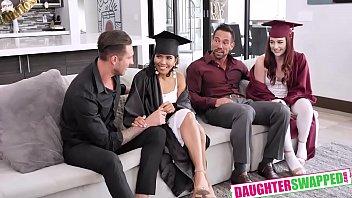 Jada Kai , Danni Rivers In Graduation Daughter Bangers