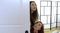 Aidra Fox and Eliza Ibarra Having Fun On Massage Mattress