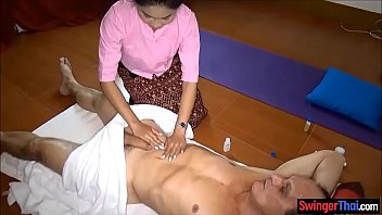Asian massage parlor from Thailand gives full service 6 min