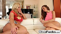Olivia Austin and Abigail end the summer with some lesbian sex