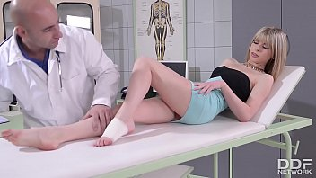Doc fucks patient Bianka Brill's sexy feet after banging her tight pussy